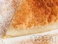 Галактобуреко - гръцки сиропиран кекс / сладкиш / баница с бутер тесто, прясно мляко и грис за десерт